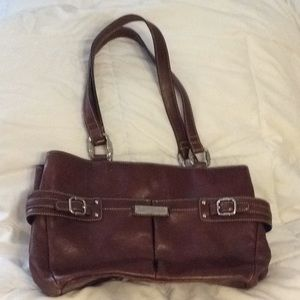 Etienne Aigner brown leather purse bag